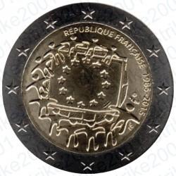 Francia - 2€ Comm. 2015 FDC 30° Ann. Bandiera Europea