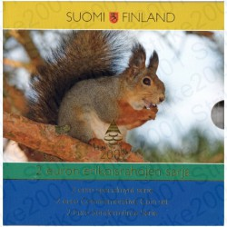Finlandia - 2€ Comm. 2004 - 2009 FDC (Scoiattolo) in Folder