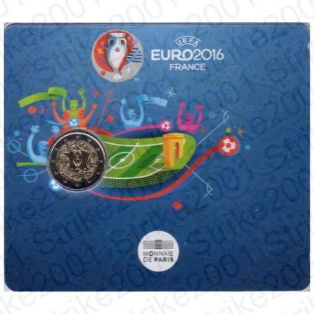 Francia - 2€ Comm. 2016 FDC Europeo di Calcio in Folder