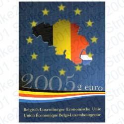 Belgio - 2€ Comm. 2005 FDC in Folder