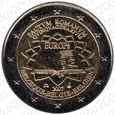 Belgio - 2€ Comm. 2007 Trattato Roma FDC