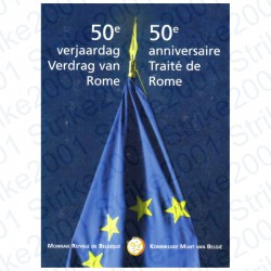Belgio - 2€ Comm. 2007 Trattato Roma in Folder FDC