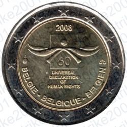 Belgio - 2€ Comm. 2008 FDC Diritti Uomo