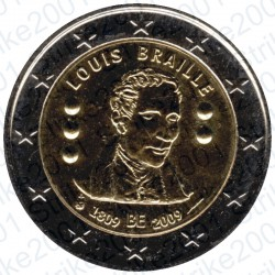 Belgio - 2€ Comm. 2009 FDC Louis Braille