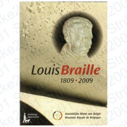 Belgio - 2€ Comm. 2009 FDC Louis Braille in Folder