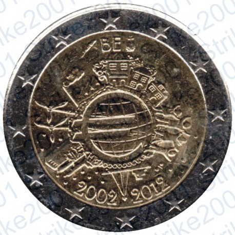 Belgio - 2€ Comm. 2012 FDC 10° Anniversario