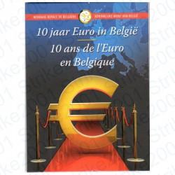 Belgio - 2€ Comm. 2012 FDC 10° Anniversario Euro in Folder