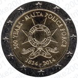 Malta - 2€ Comm. 2014 FDC Polizia