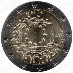 Malta - 2€ Comm. 2015 FDC 30° Ann. Bandiera Europea