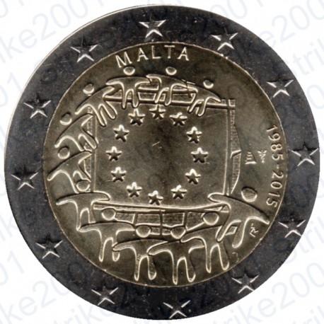 Malta - 2€ Comm. 2015 FDC 30° Anniversario Bandiera Europea