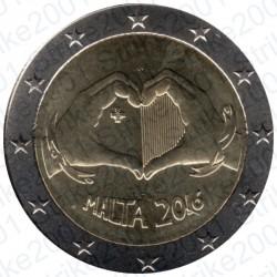 Malta - 2€ Comm. 2016 FDC Solidarietà e Amore
