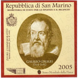 San Marino - 2€ Comm. 2005 FDC Galileo Galilei in Folder