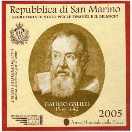 San Marino - 2€ Comm. 2005 FDC Galileo Galilei in Folder