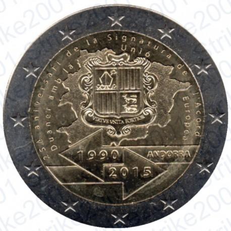 Andorra - 2€ Comm. 2015 FDC Accordo Doganale U.E.