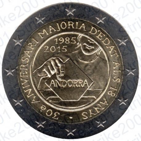 Andorra - 2€ Comm. 2015 FDC Maggiore Età e Diritti