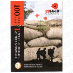 Belgio - 2€ Comm. 2014 FDC Prima Guerra Mondiale in Folder