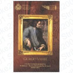 San Marino - 2€ Comm. 2011 FDC Giorgio Vasari in Folder