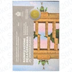 San Marino - 2€ Comm. 2015 FDC Riunificazione Germania in Folder