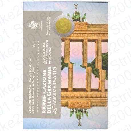 San Marino - 2€ Comm. 2015 FDC Riunificazione Germania