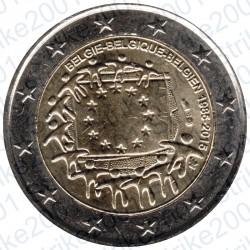 Belgio - 2€ Comm. 2015 FDC 30° Ann. Bandiera Europea