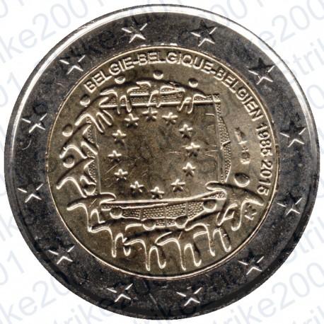 Belgio - 2€ Comm. 2015 Bandiera Europea FDC