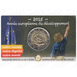 Belgio - 2€ Comm. 2015 FDC Anno Sviluppo - Francia in Folder