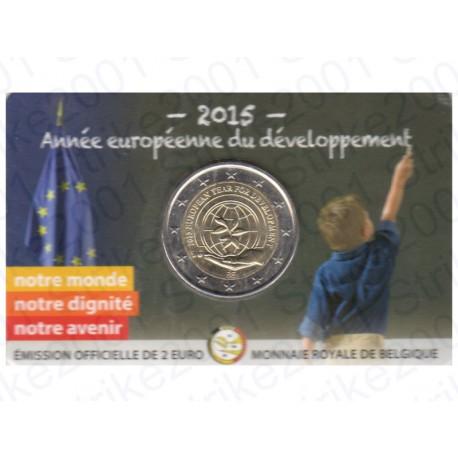 Belgio - 2€ Comm. 2015 in folder FDC Anno Sviluppo - Francia