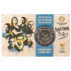 Belgio - 2€ Comm. 2016 FDC Olimpiadi Rio - (Olanda)  in Folder