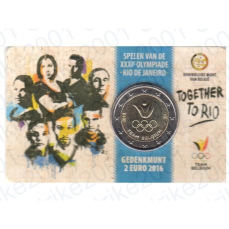 Belgio - 2€ Comm. 2016 in Folder FDC Olimpiadi Rio - (Olanda)