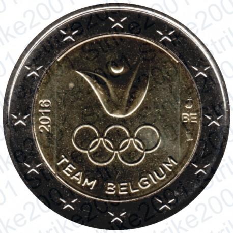 Belgio - 2€ Comm. 2016 Olimpiadi Rio FDC