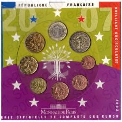 Francia - Divisionale Ufficiale 2007 FDC