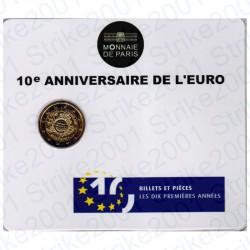 Francia - 2€ Comm. 2012 FDC 10° Anniversario Euro in Folder