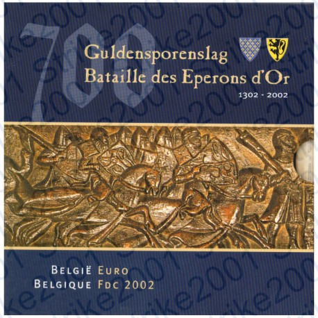 Belgio - Divisionale Ufficiale 2002 FDC
