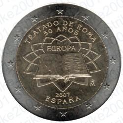 Spagna - 2€ Comm. 2007 FDC Trattato Roma