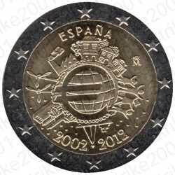 Spagna - 2€ Comm. 2012 FDC 10° Anniversario Euro