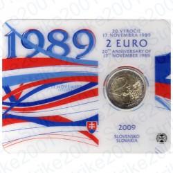 Slovacchia - 2€ Comm. 2009 FDC Libertà e Democrazia in Folder