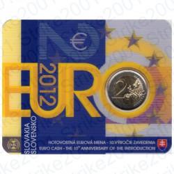 Slovacchia - 2€ Comm. 2012 FDC Anniversario in Folder
