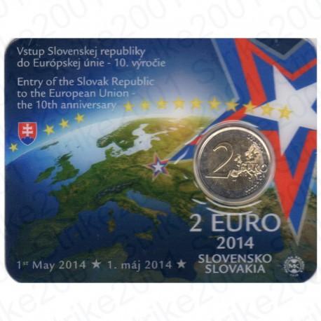 Slovacchia - 2€ Comm. 2014 FDC Ingresso Unione Europea in Folder