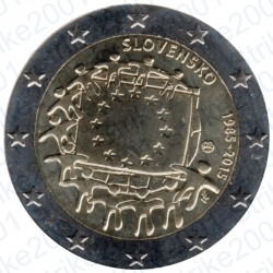 Slovacchia - 2€ Comm. 2015 FDC Bandiera Europea