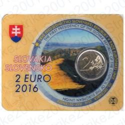 Slovacchia - 2€ Comm. 2016 FDC Presidenza U.E. in Folder
