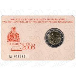 Slovenia - 2€ Comm. 2008 FDC Primoz Trubar in Folder