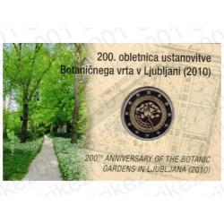 Slovenia - 2€ Comm. 2010 FDC Orto Botanico in Folder