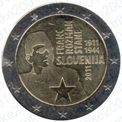 Slovenia - 2€ Comm. 2011 FDC Franc Rozman