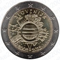 Slovenia - 2€ Comm. 2012 FDC 10° Anniversario Euro