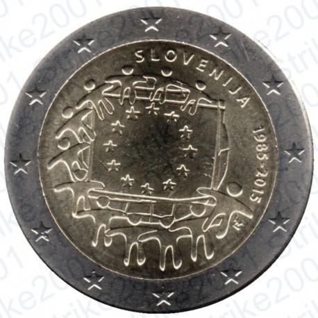 Slovenia - 2€ Comm. 2015 FDC Bandiera Europea