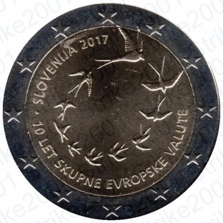Slovenia - 2€ Comm. 2017 FDC Ann. introduzione euro