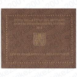 Vaticano - 2€ Comm. 2011 FDC Giornata Mondiale Gioventù in Folder