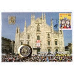 Vaticano - 2€ Comm. 2012 Incontro Famiglie in busta Filatelica