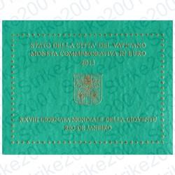 Vaticano - 2€ Comm. 2013 FDC Giornata Gioventù Rio in Folder