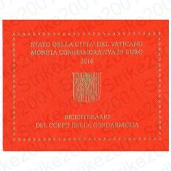 Vaticano - 2€ Comm. 2016 FDC Gendarmeria in Folder